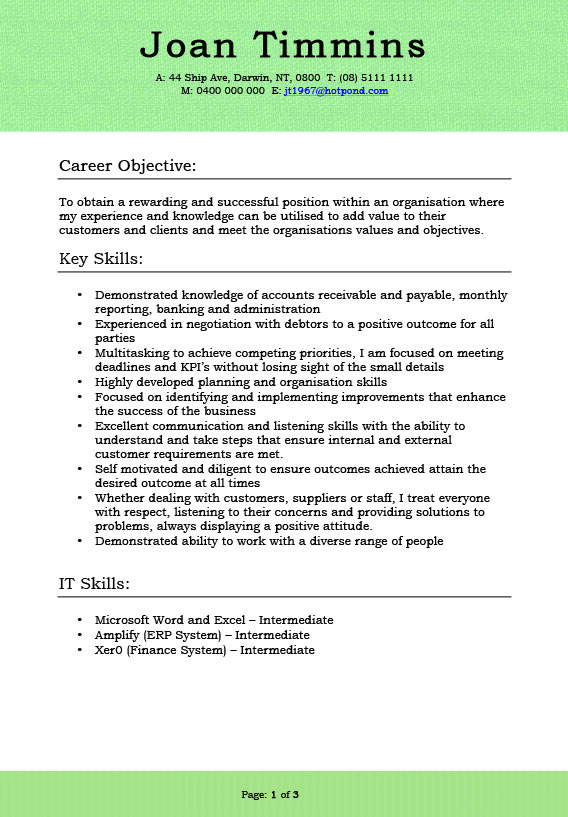 Résumé Gallery  It Skills Resume